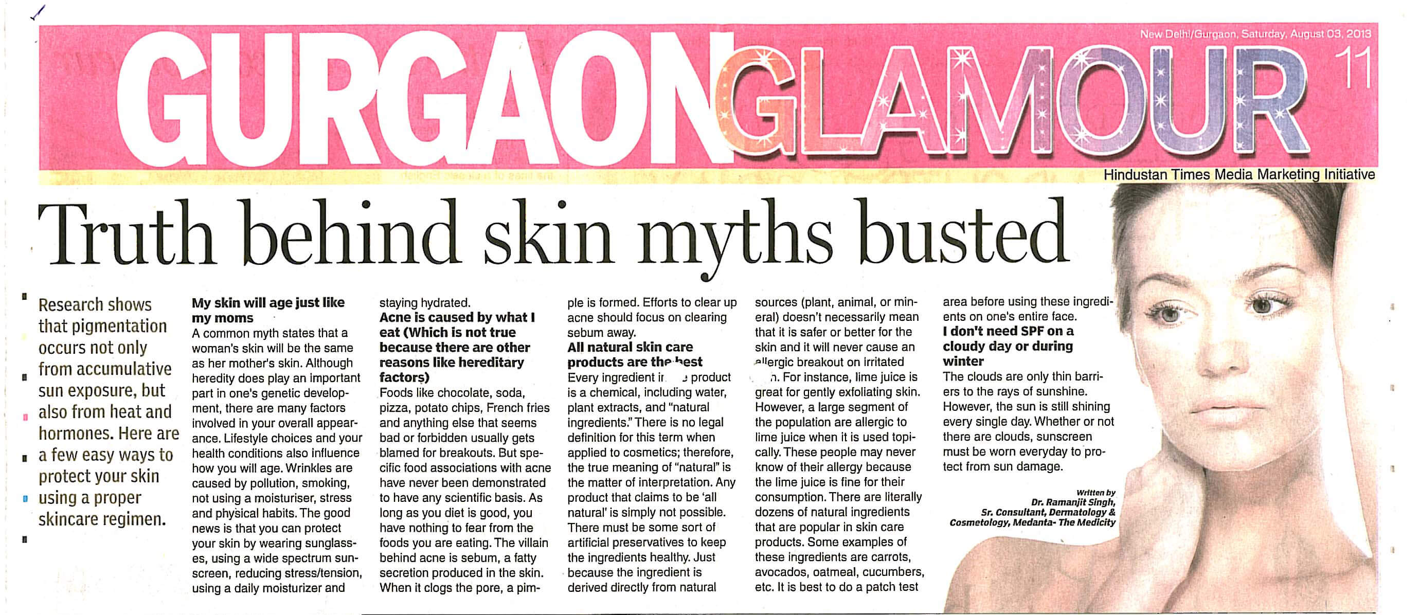 Truth behind skin myths busted