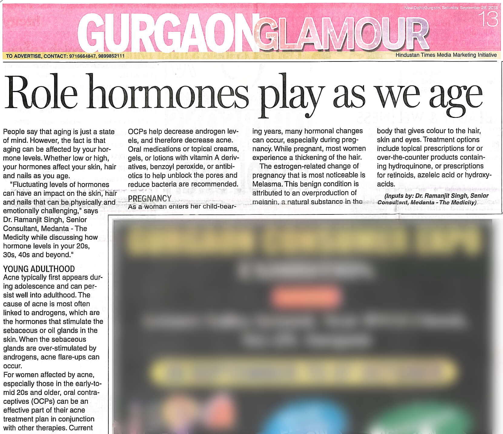 Role hormones play as we age