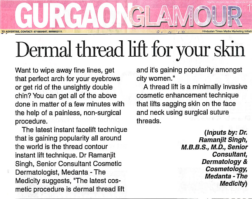 Dermal thread lift for your skin